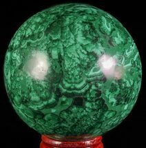 "Buy Gorgeous 2.4"" Polished Malachite Sphere - Congo - #63742"