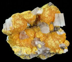 "1.3"" Orpiment With Barite Crystals - Peru For Sale, #63791"