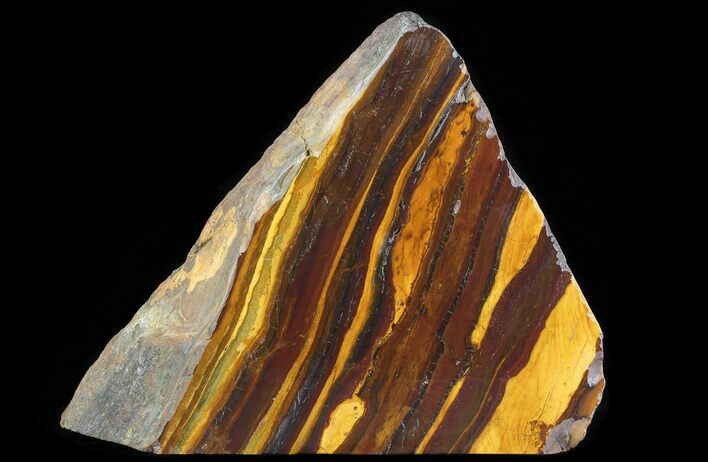 "11.3"" Polished ""Desert Sunset"" Banded Iron - Western Australia"