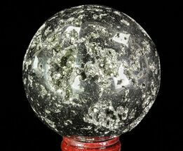 "2.5"" Polished Pyrite Sphere - Peru For Sale, #65120"