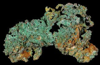 Copper & Malachite - Fossils For Sale - #64062