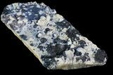 "8.6"" Deep Blue Fluorite on Quartz - China - #64112-1"