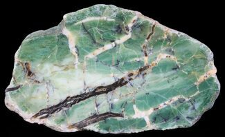 "4.4"" Polished Green-White Opal Slab - Western Australia For Sale, #65402"