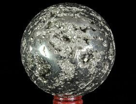 "Buy 3.65"" Polished Pyrite Sphere - Peru - #65872"