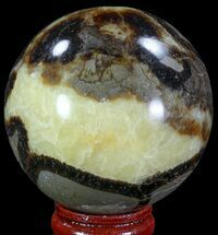 "2.25"" Polished Septarian Sphere - Madagascar For Sale, #67826"