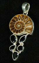 Buy Sterling Silver Ammonite Pendant  - #5599