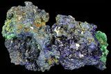 "2.6"" Sparkling Azurite Crystal Cluster with Malachite - Laos - #69710-1"