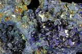 "2.6"" Sparkling Azurite Crystal Cluster with Malachite - Laos - #69710-2"