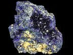 "2.4"" Sparkling Azurite Crystal Cluster - Laos - #69719-1"