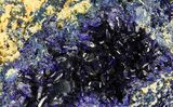 "2.4"" Sparkling Azurite Crystal Cluster - Laos - #69719-2"