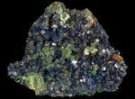 "1.9"" Sparkling Azurite Crystal Cluster with Malachite - Laos - #69691-1"