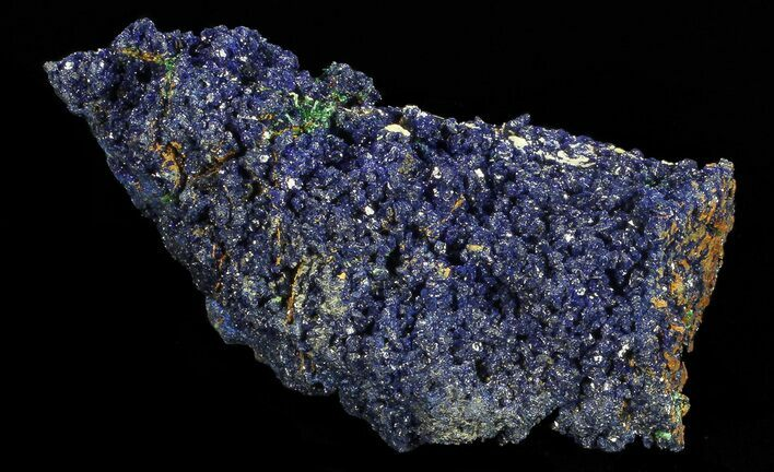 "1.8"" Sparkling Azurite Crystal Cluster with Malachite - Laos"