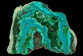 "Buy 2.3"" Polished Chrysocolla & Plume Malachite - Bagdad Mine, Arizona - #69520"