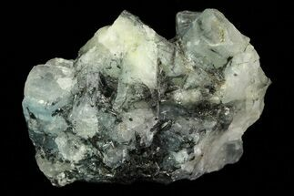 "1"" Aquamarine and Black Tourmaline (Schorl) Association - Namibia For Sale, #69191"