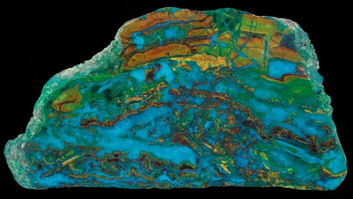 "2.2"" Polished Chrysocolla & Plume Malachite - Bagdad Mine, Arizona"