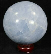 "4.1"" Polished Blue Calcite Sphere - Madagascar For Sale, #32132"