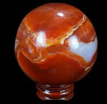"Buy 2.4"" Colorful Carnelian Agate Sphere - Madagascar - #70936"