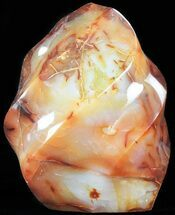 "5.6"" Carnelian Agate ""Flame"" Sculpture For Sale, #71441"