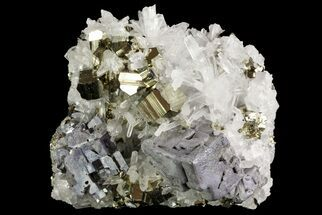 "Buy 2.6"" Pyrite With Galena and Quartz Crystals - Peru - #71371"
