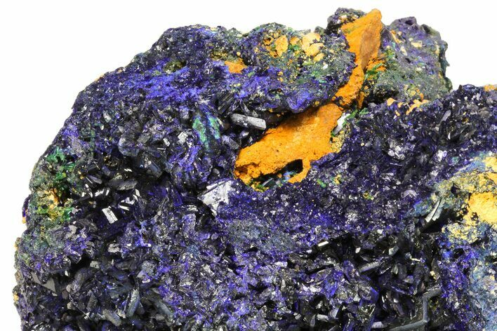 "8.3"" Amazing Azurite Cluster From Laos - Check Out Video!"