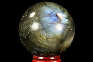 "Buy Bargain, 2.2"" Flashy Labradorite Sphere - Great Color Play - #71809"