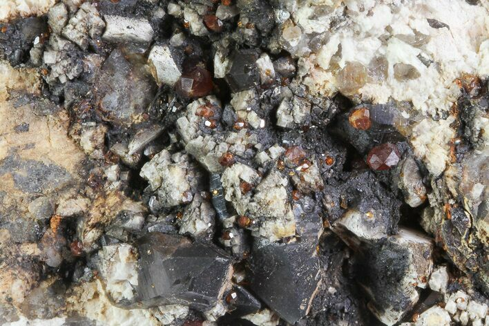 "2.6"" Spessartine Garnet On Smoky Quartz - China"