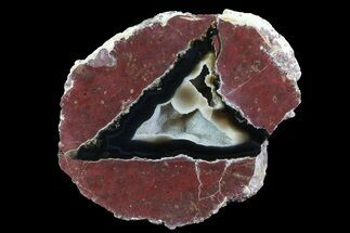 "Buy 4.8"" Polished Thunderegg Geode Half - Nevada - #73894"