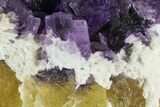 "5"" Cubic Fluorite on Bladed Barite - Cave-in-Rock, Illinois - #73941-3"