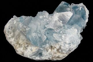 "3.3"" Sky Blue Celestine (Celestite) Crystal Cluster - Madagascar For Sale, #74714"