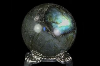 "1.4"" Flashy Labradorite Sphere - Great Color Play For Sale, #74630"