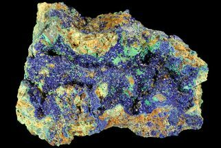 "Buy 2.7"" Sparkling Azurite and Malachite Crystal Cluster - Morocco - #74386"