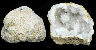 "3-4"" Unbroken Quartz Geode From Morocco - 3 Pack For Sale, #75704"
