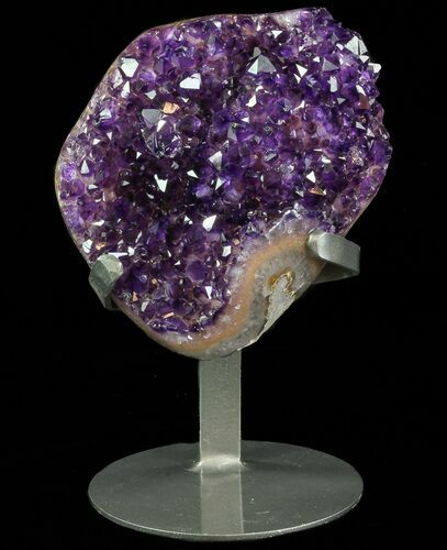 "6.2"" Dark Amethyst Crystal From Uruguay - Metal Stand"