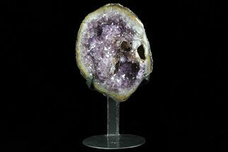 "Buy 8.3"" Tall Amethyst Cluster From Uruguay - Custom Metal Stand - #76750"