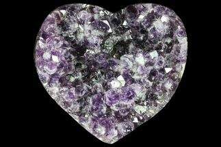 "4.3"" Purple Amethyst Crystal Heart - Uruguay For Sale, #76796"
