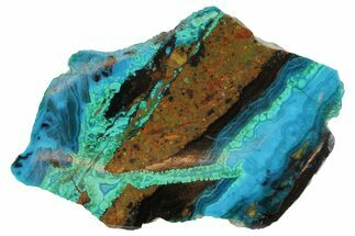 Chrysocolla & Malachite - Fossils For Sale - #69525