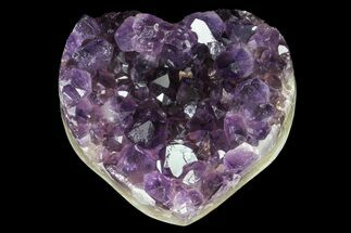 "Buy 2.9"" Purple Amethyst Crystal Heart - Uruguay - #76771"