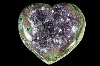 "3.9"" Purple Amethyst Crystal Heart - Uruguay For Sale, #76775"