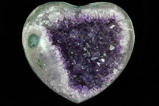 "4.25"" Purple Amethyst Crystal Heart - Uruguay For Sale, #76808"