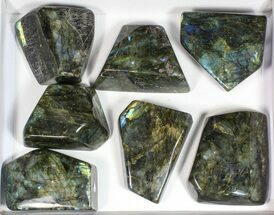 Buy Wholesale Lot: 20 Lbs Free-Standing Polished Labradorite - 7 Pieces - #77656