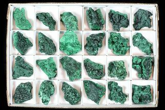 Wholesale Lot: Gorgeous Fibrous Malachite From Congo - 24 Pieces For Sale, #77804