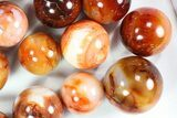 "Wholesale Box: 2- 3"" Polished Carnelian Spheres - 5 kg (11 lbs) - #78020-2"