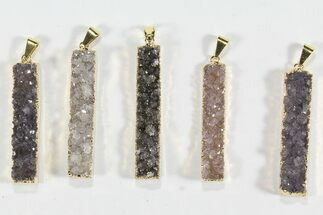 Buy Wholesale Lot: Druzy Amethyst Pendants - 10 Pieces - #78442
