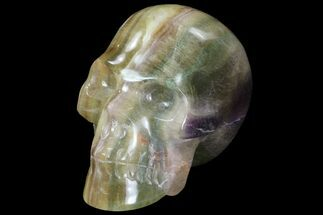 "Buy 4.4"" Carved, Rainbow Fluorite Skull - Argentina - #78637"