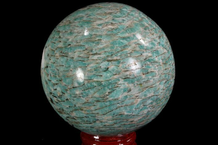 "2.7"" Polished Amazonite Crystal Sphere - Madagascar"