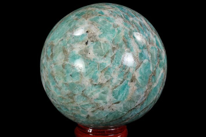 "2.6"" Polished Amazonite Crystal Sphere - Madagascar"