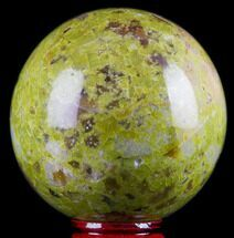 "2.6"" Polished Green Opal Sphere - Madagascar For Sale, #78755"