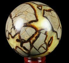 "5.1"" Polished Septarian Sphere (6.5 lbs) - Madagascar For Sale, #79331"