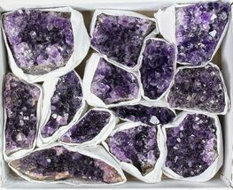 Buy Wholesale Flat: 13 Pieces Uruguay Amethyst Clusters - Grade B - #79420