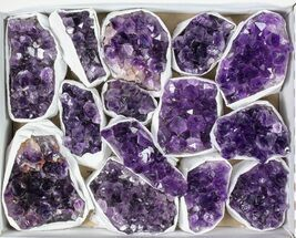 Buy Wholesale Flat: 14 Pieces Uruguay Amethyst Clusters - Grade B - #79423